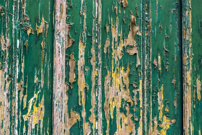 黑暗被抓的难看的东西木织地不很细墙壁 老木纹理机智 免版税库存图片