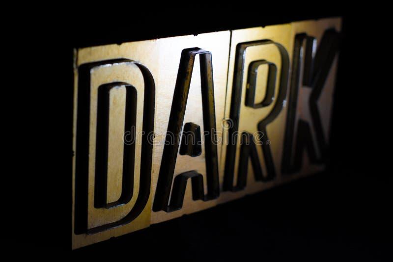 黑暗:伍迪词 免版税库存图片