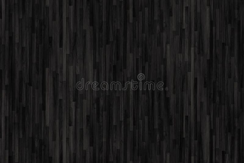 黑木木条地板纹理 背景老面板 皇族释放例证