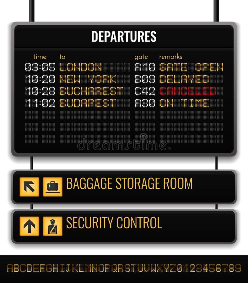 黑机场板现实构成 皇族释放例证