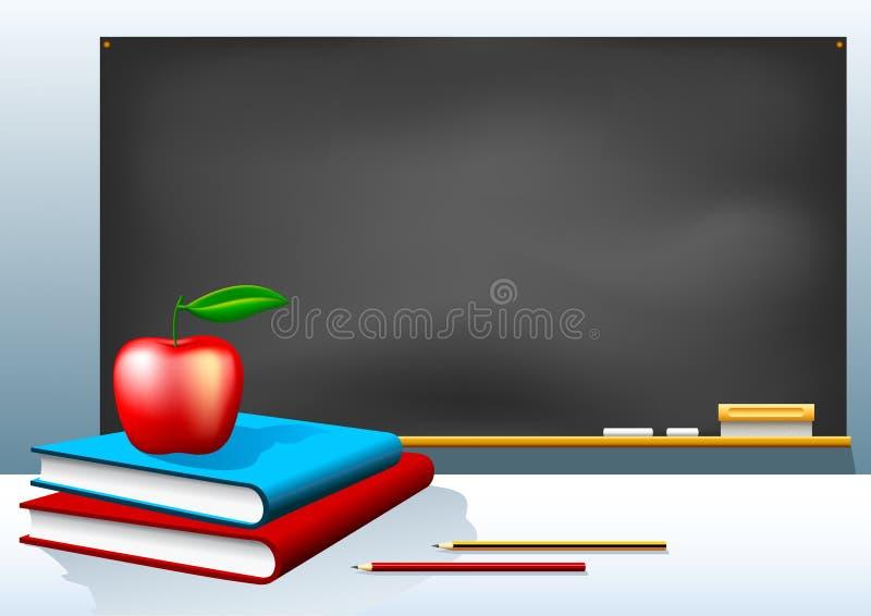 黑板书 向量例证