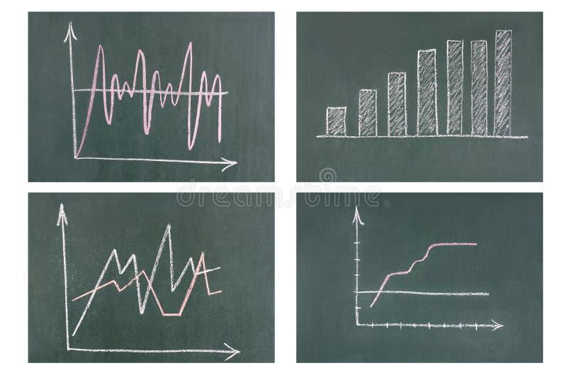 黑板企业绘制 免版税图库摄影
