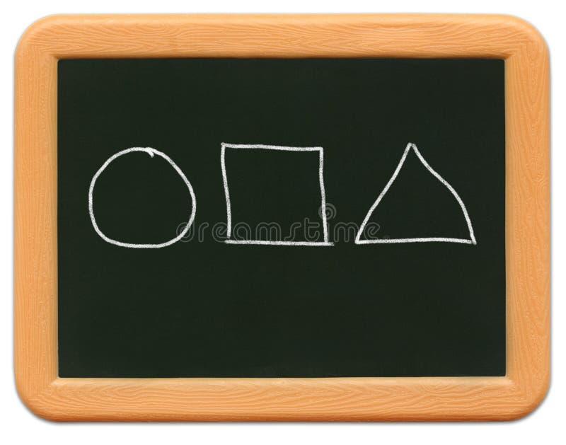 黑板儿童微型s形状 库存图片