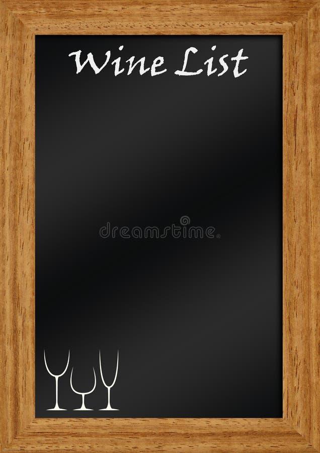黑板列表酒 向量例证