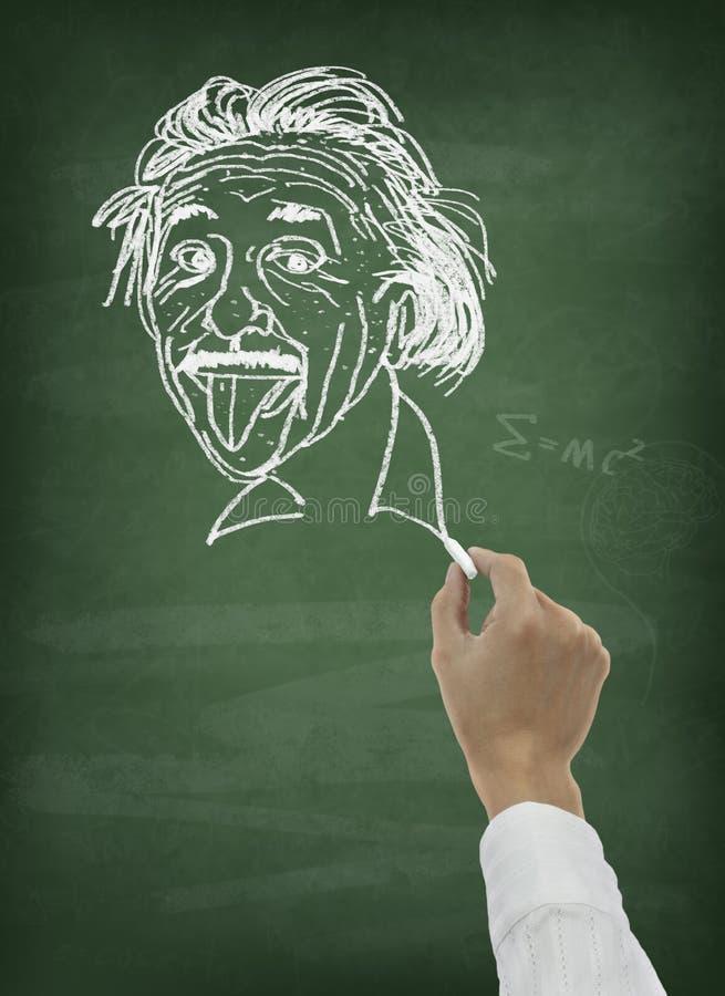 黑板图画现有量科学家 免版税库存图片