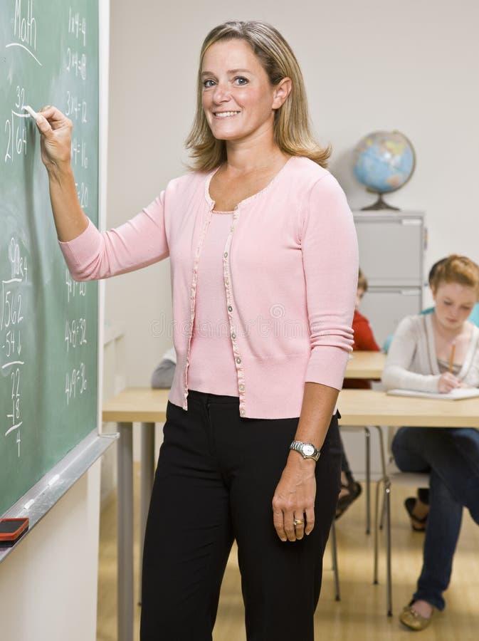 黑板教师文字 图库摄影