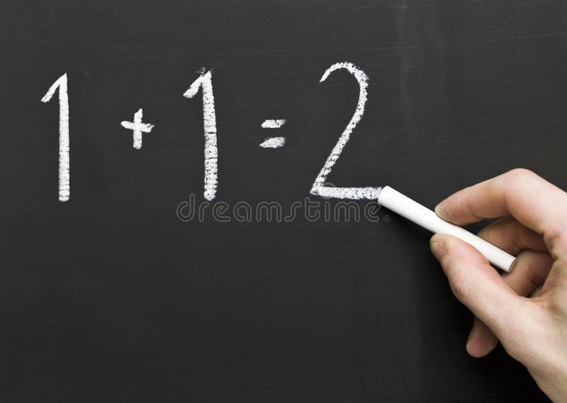 黑板数学 图库摄影