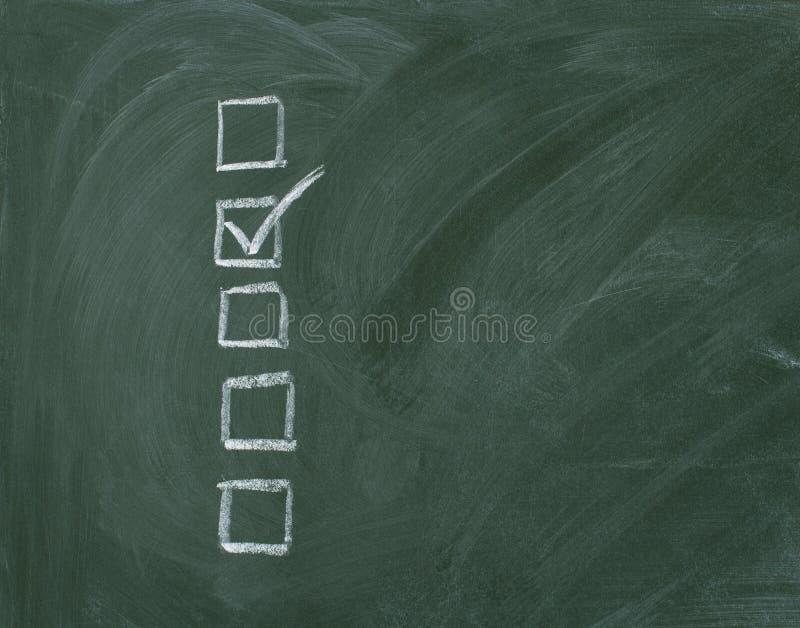 黑板核对清单 库存图片
