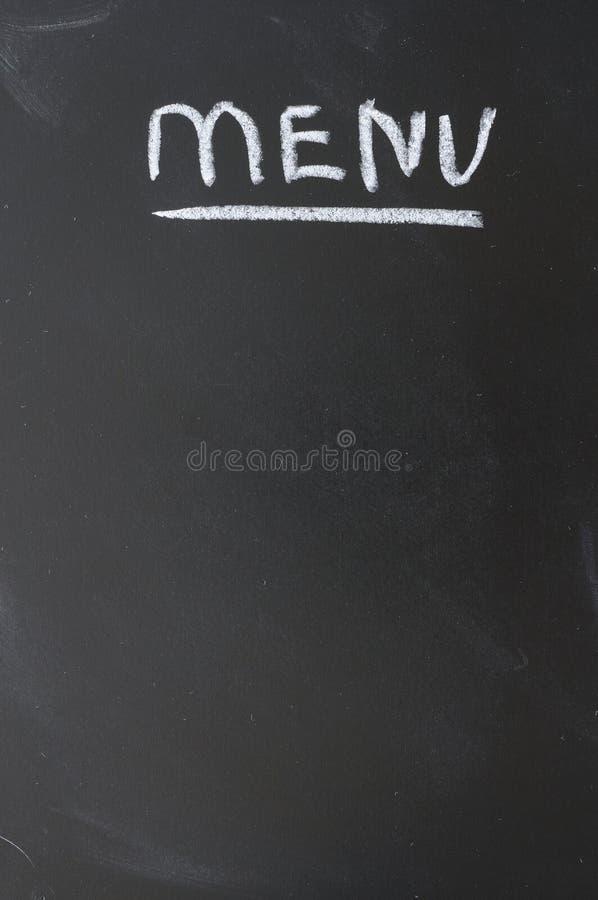 黑板概念菜单 库存图片