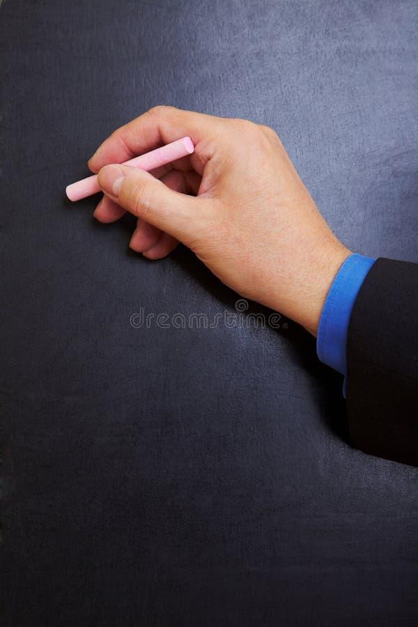 黑板现有量文字 免版税图库摄影