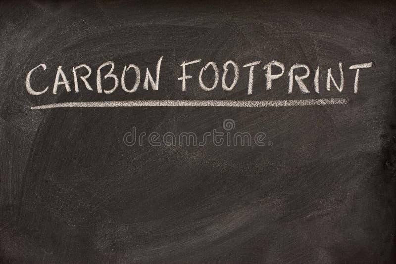 黑板碳脚印称谓 免版税图库摄影