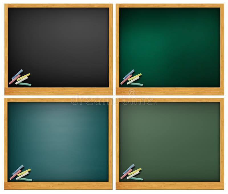 黑板空白 库存例证