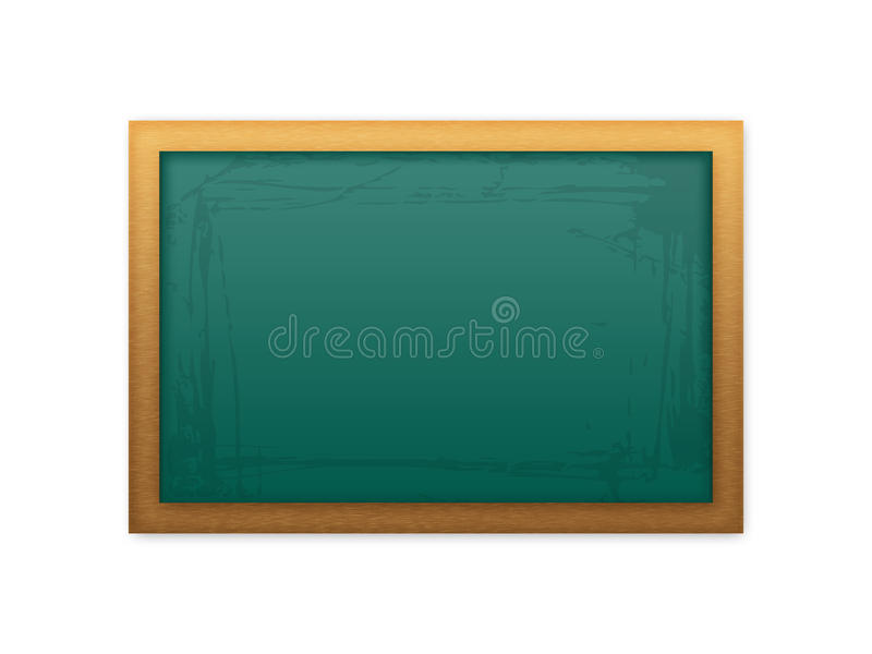 黑板绿色学校 向量例证