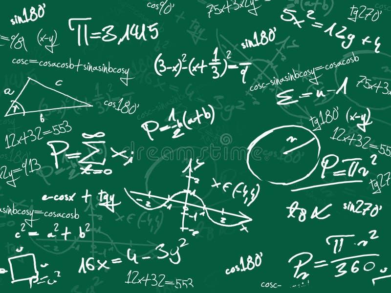 黑板绿色算术学校 库存例证