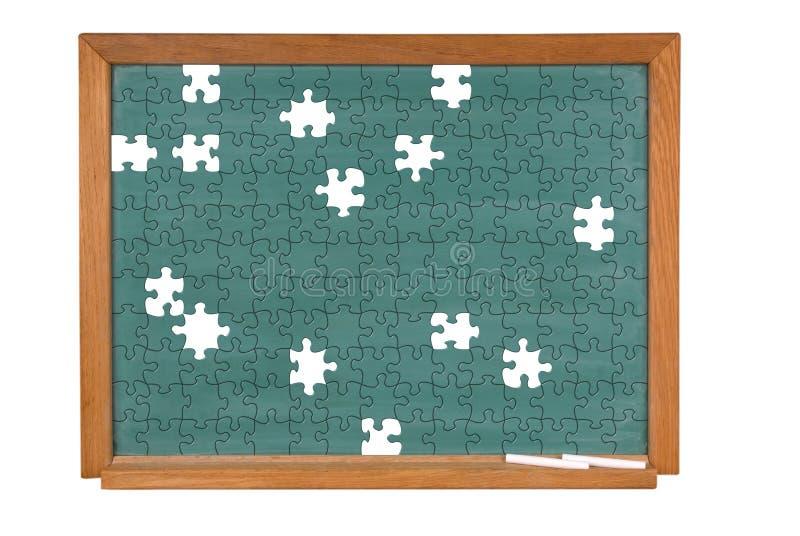 黑板绿色难题 免版税库存照片