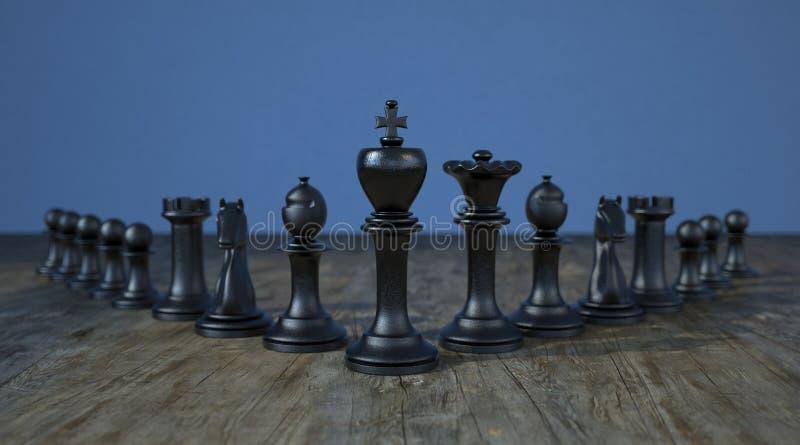 黑棋典当领导 皇族释放例证