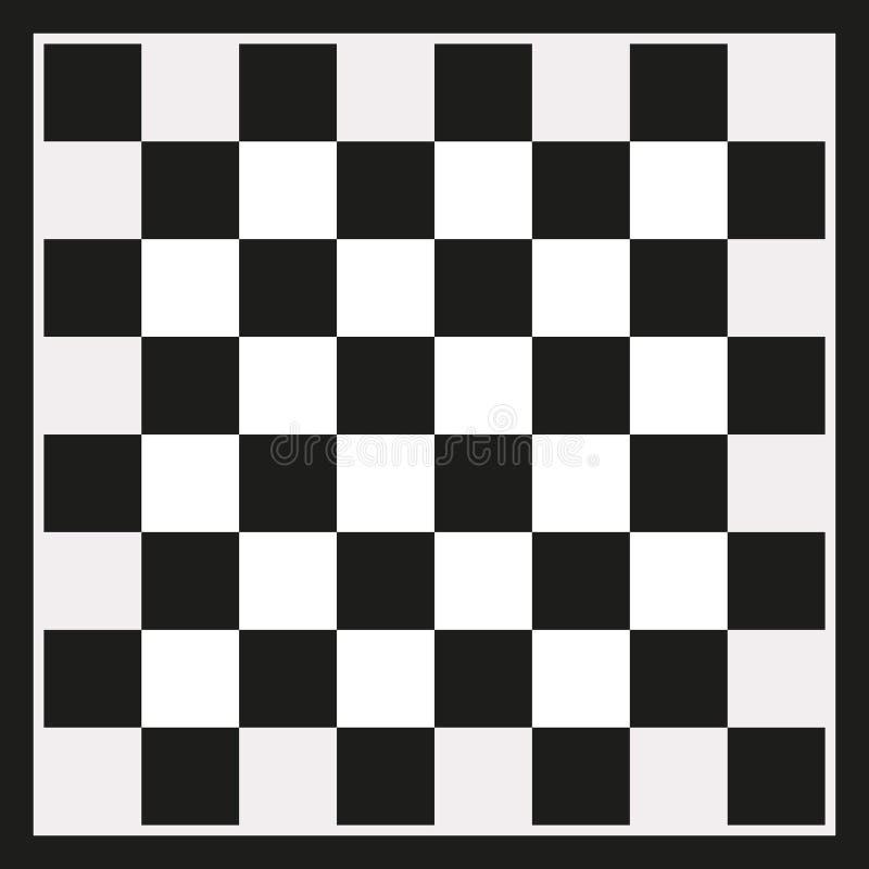 黑棋盘棋 库存例证