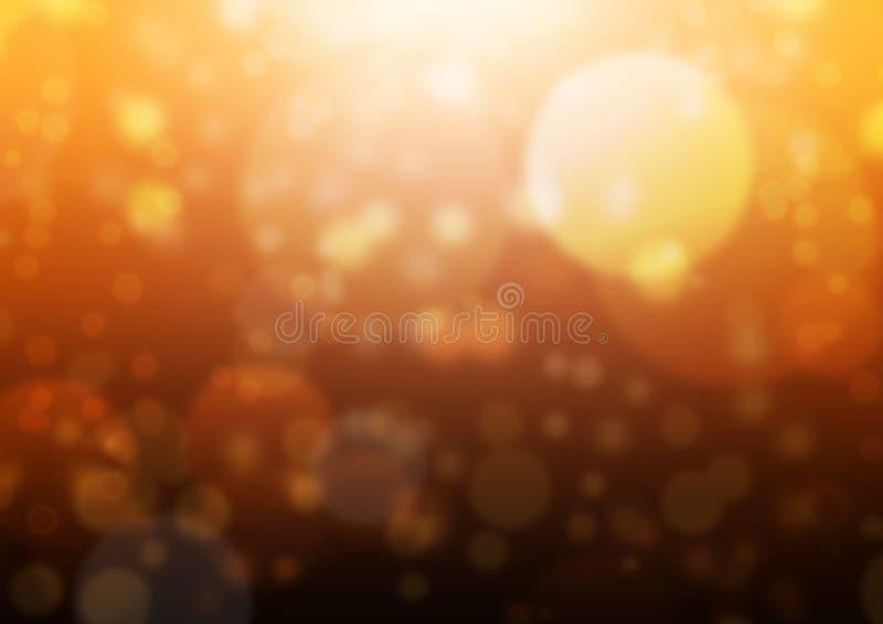 黑橙色Bokeh发光 库存照片