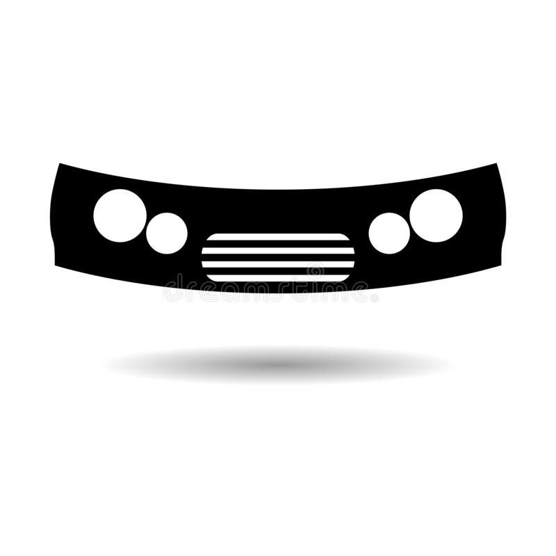 黑汽车防撞器象或商标 向量例证