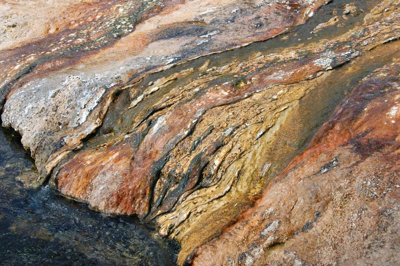 黑沙子水池,黄石 免版税库存图片