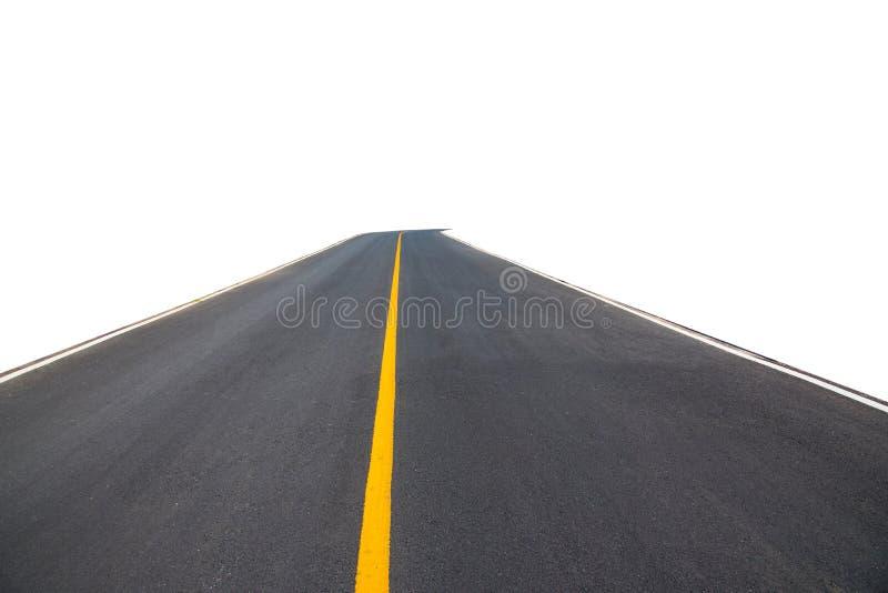 黑沥青弯曲道路运输,裁减路线 免版税库存照片
