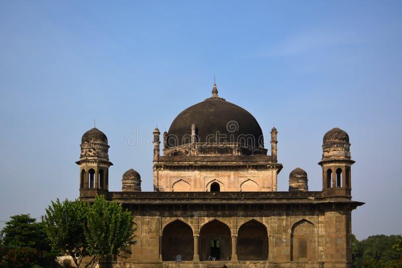 黑泰姬陵在布尔汉普尔,中央邦,印度 图库摄影