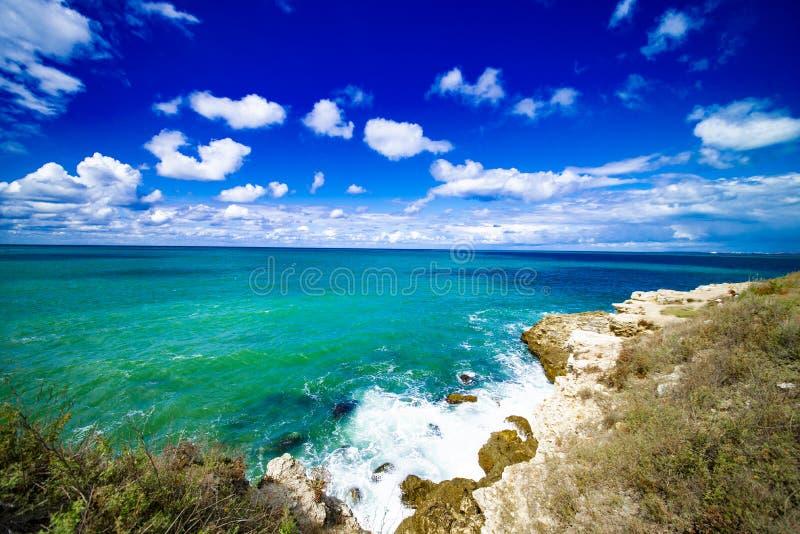 黑海海岸在塞瓦斯托波尔 免版税库存照片