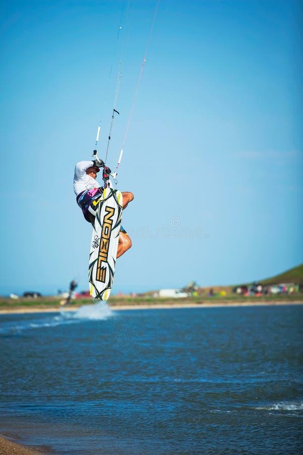 黑海风筝冲浪运动 免版税图库摄影