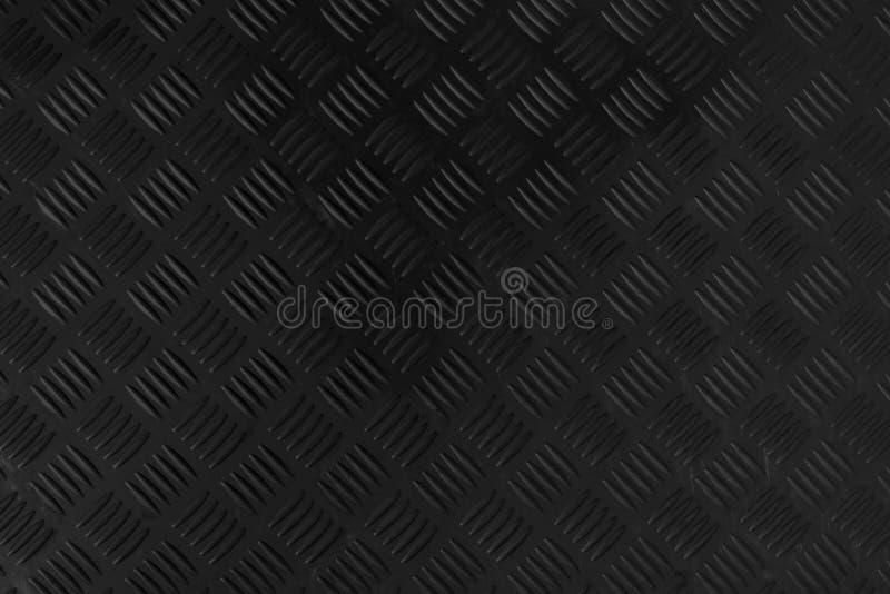 黑深灰不锈验查员板材摘要地板金属stanless的背景 免版税库存照片