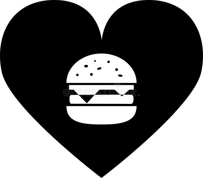 黑爱象汉堡包用乳酪和剁 库存例证