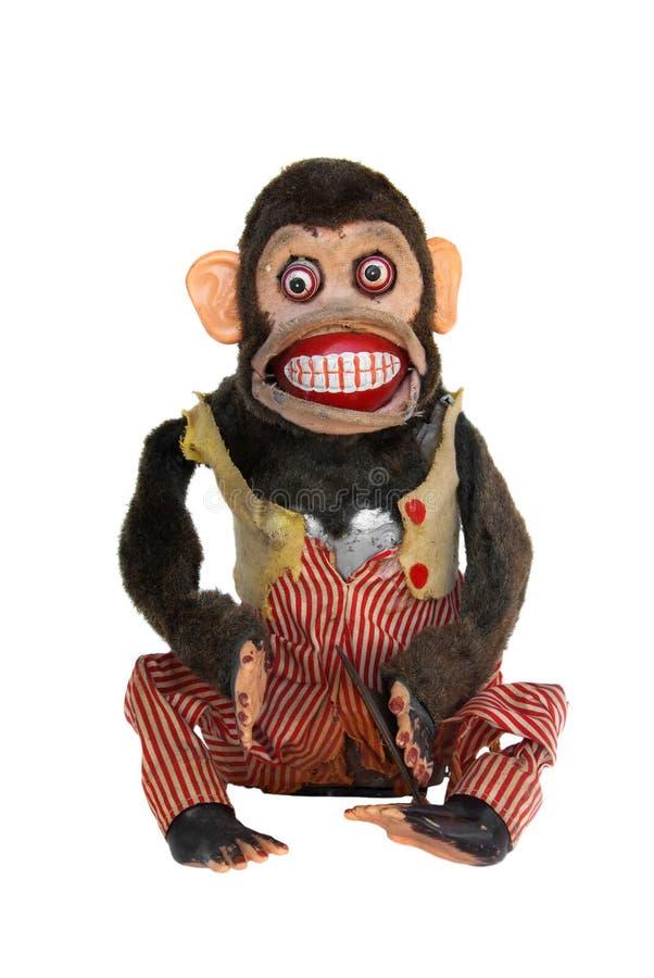 黑猩猩损坏的机械 免版税库存照片