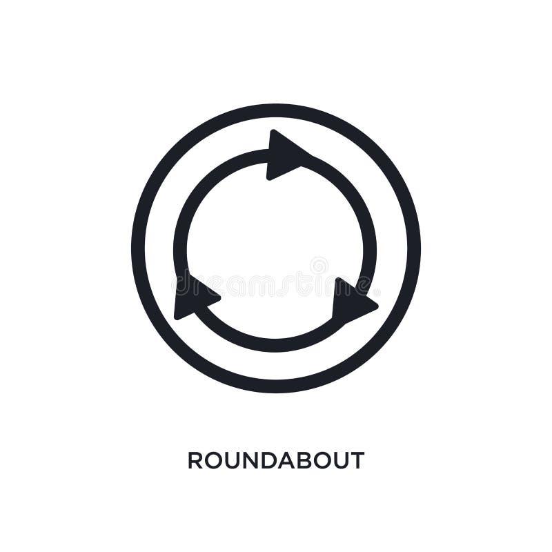 黑环形交通枢纽被隔绝的传染媒介象 从的简单的元素例证交通标志概念传染媒介象 编辑可能的环形交通枢纽 皇族释放例证