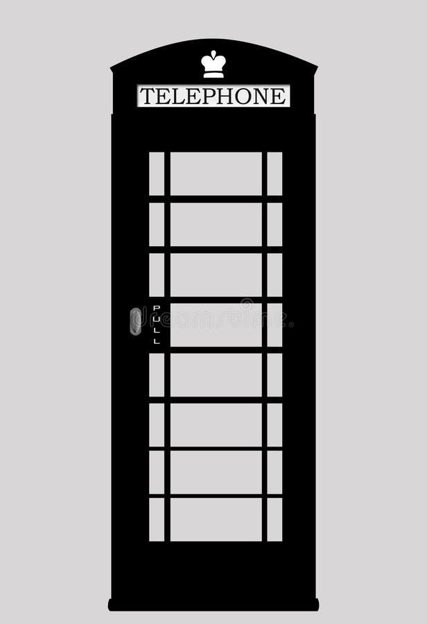 黑电话亭 向量例证