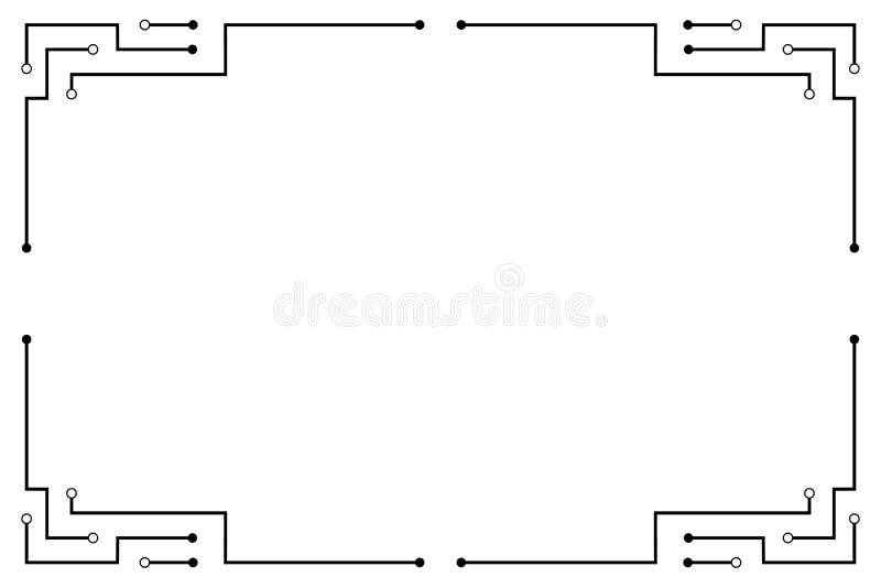 黑电路线框架摘要技术传染媒介设计 向量例证