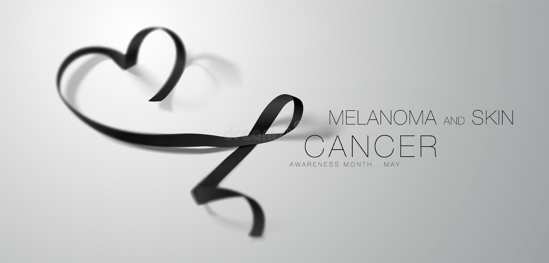 黑瘤和皮肤癌了悟书法海报设计 现实黑丝带 5月是巨蟹星座了悟月 向量例证
