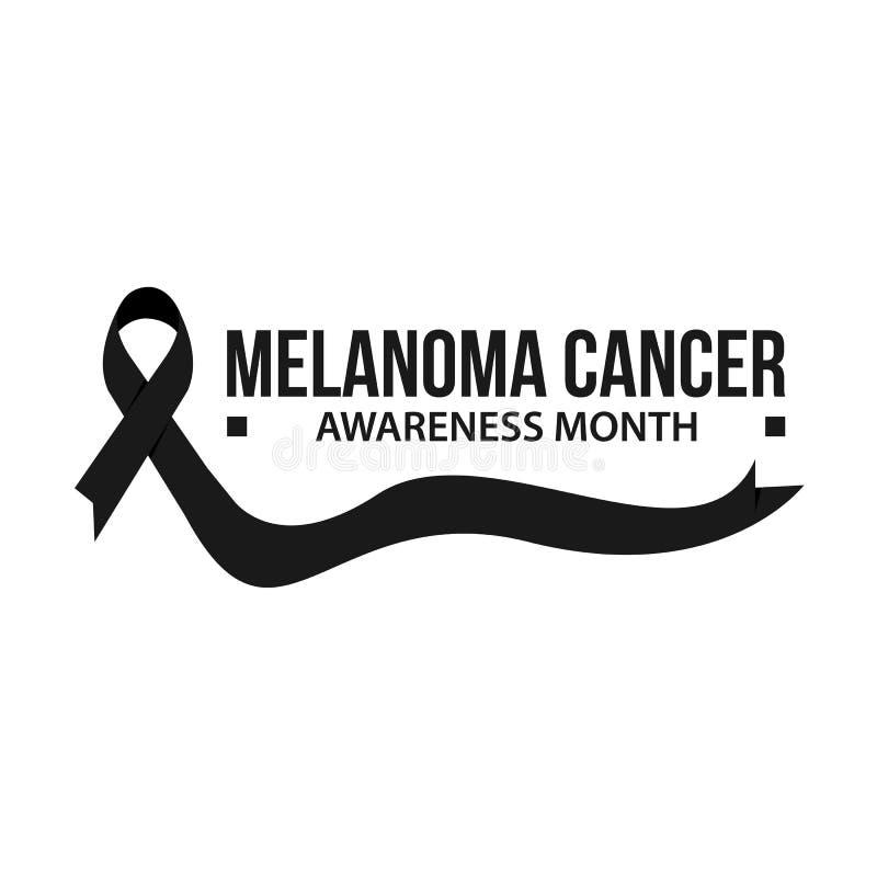 黑瘤癌症了悟传染媒介例证 向量例证
