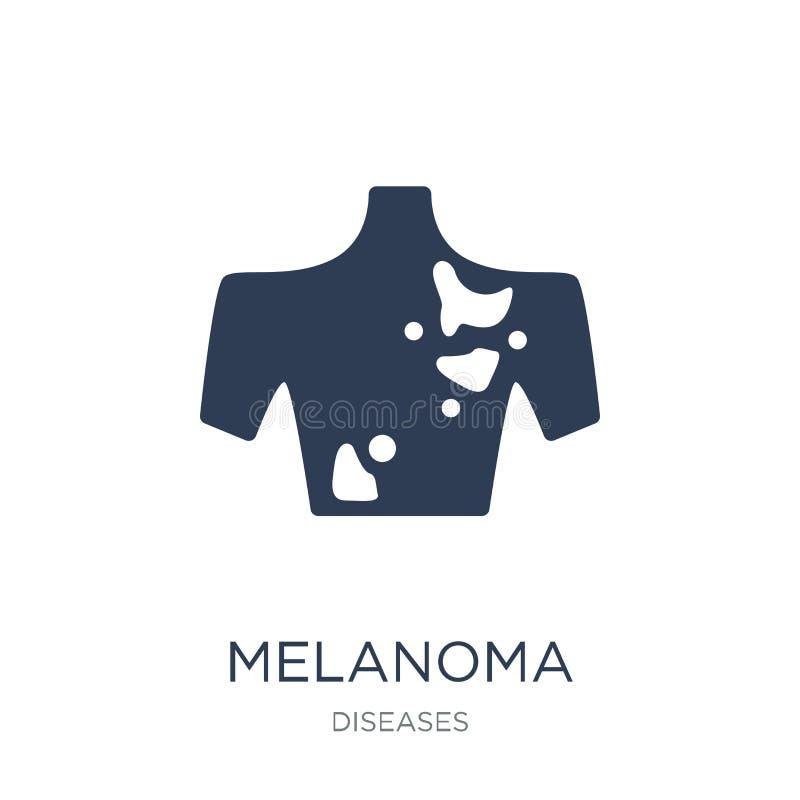 黑瘤象 在白色backgro的时髦平的传染媒介黑瘤象 向量例证