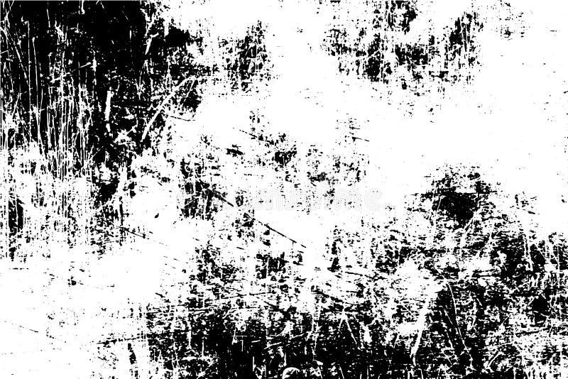 黑白与拷贝空间的难看的东西都市纹理 抽象例证表面尘土和粗砺的肮脏的墙壁背景wi 皇族释放例证