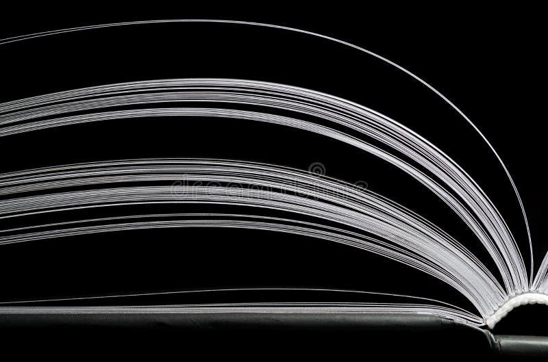 黑白书 免版税库存照片