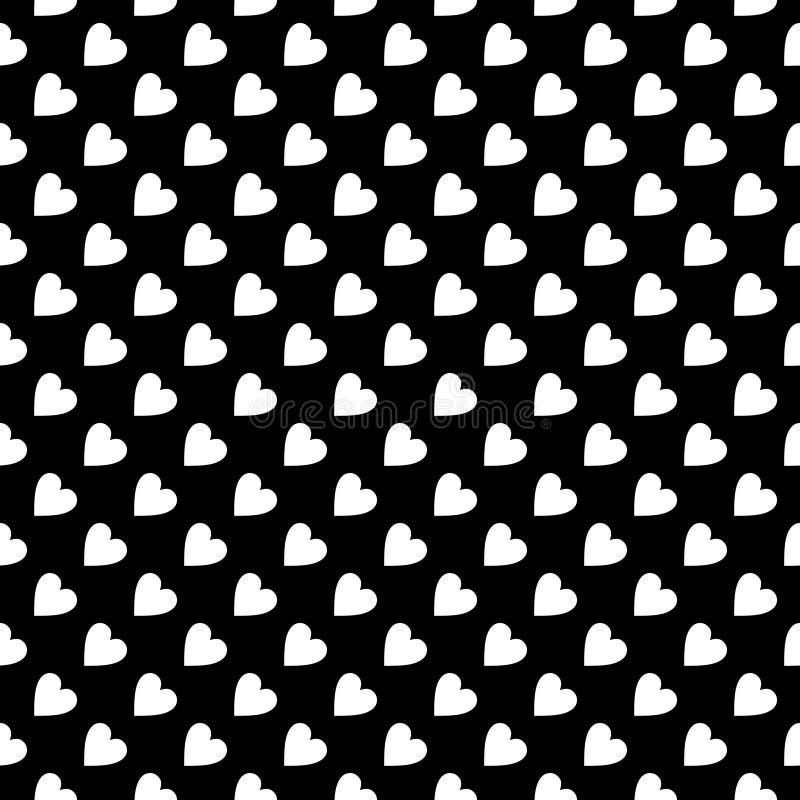 黑白传染媒介无缝的抽象的样式 抽象背景墙纸 也corel凹道例证向量 库存例证