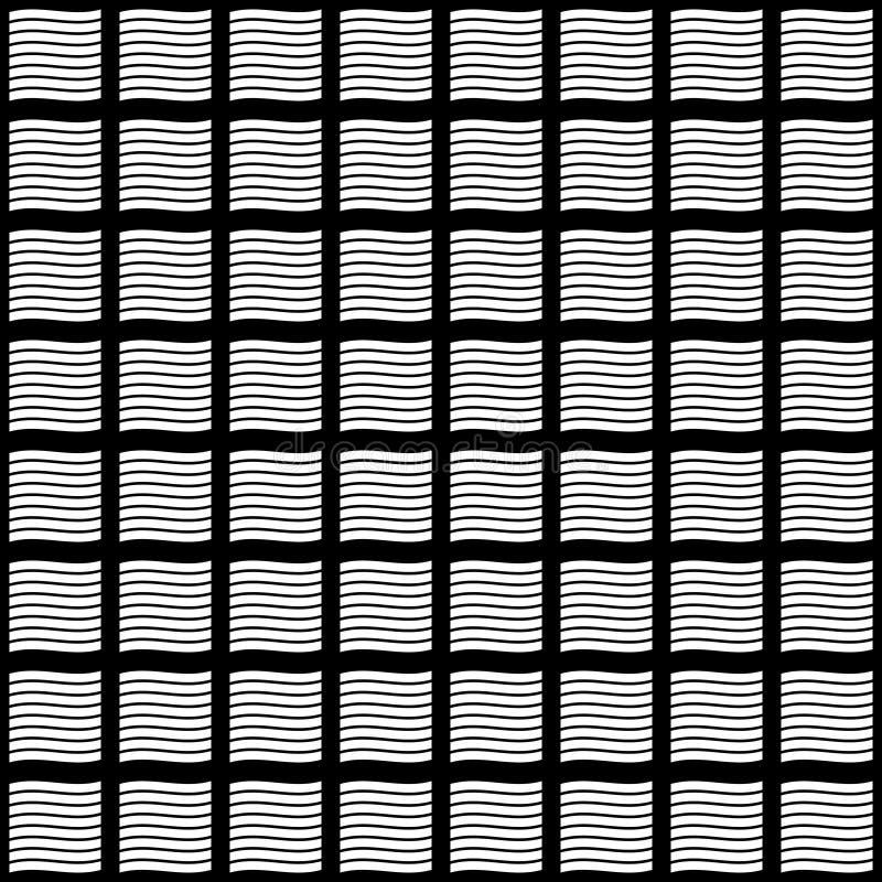 黑白传染媒介无缝的抽象的样式 抽象背景墙纸 也corel凹道例证向量 向量例证