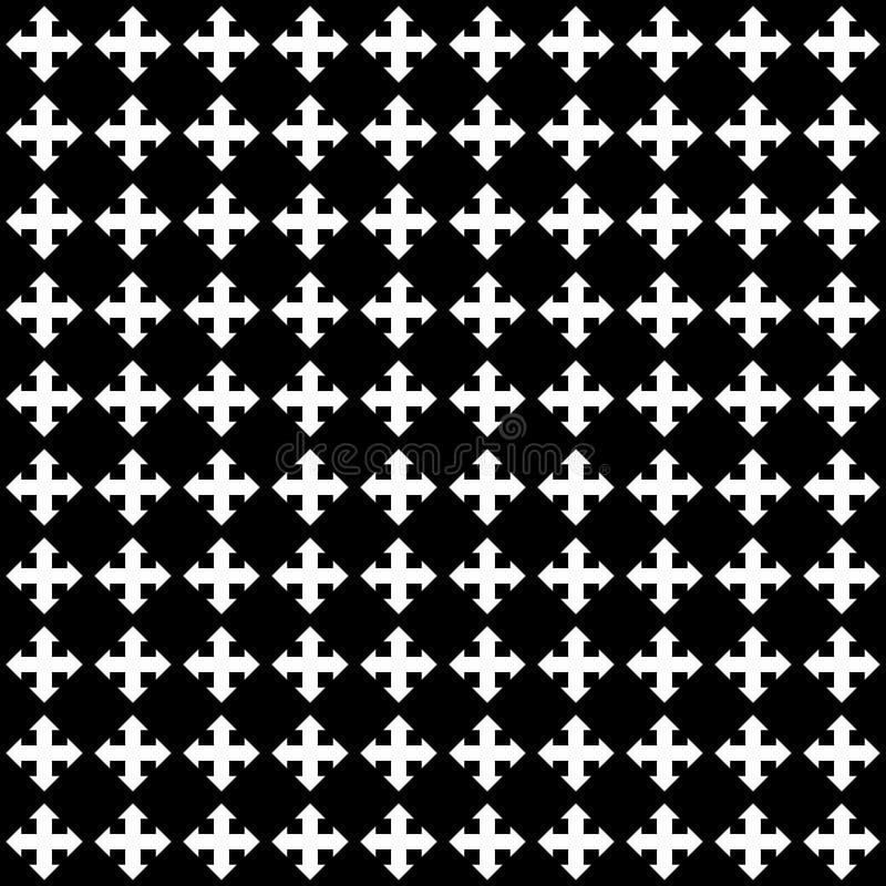 黑白传染媒介无缝的抽象的样式 抽象背景墙纸 也corel凹道例证向量 皇族释放例证
