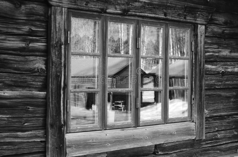 黑白农村达拉纳省 免版税库存照片