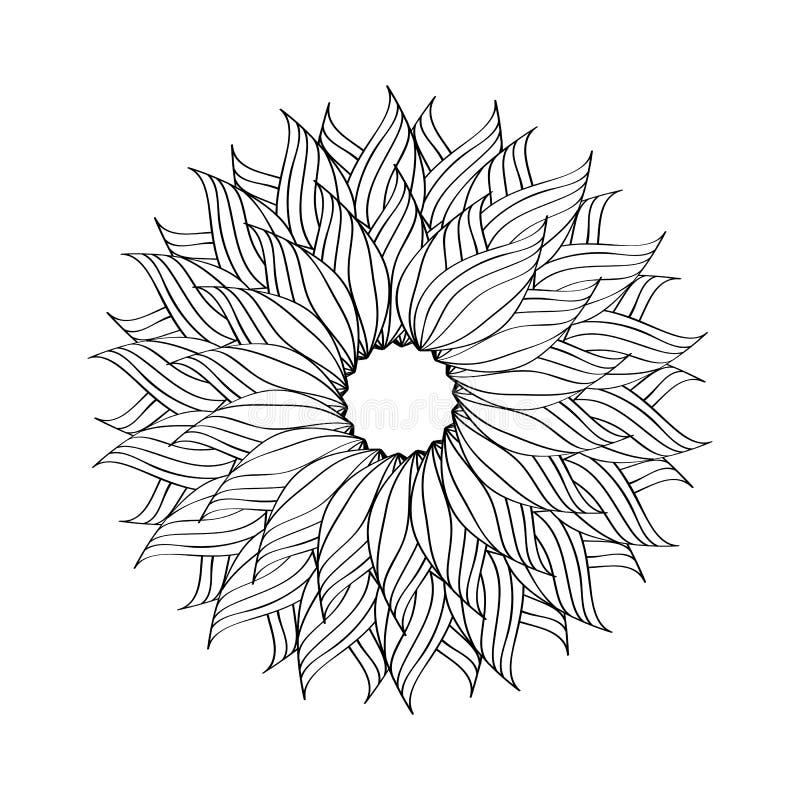 黑白圆传染媒介例证 向量例证