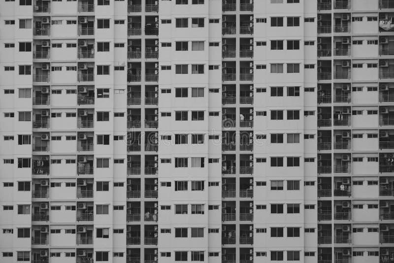 黑白大厦在城市 免版税库存图片