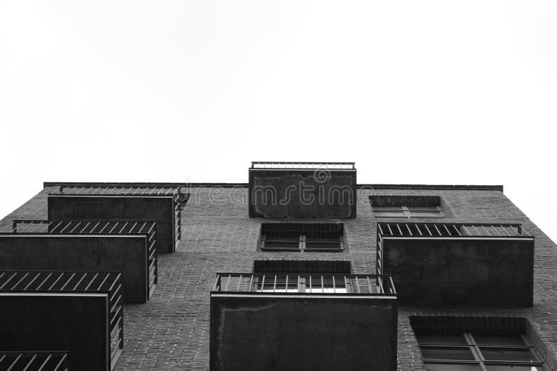 黑白大厦 免版税库存照片