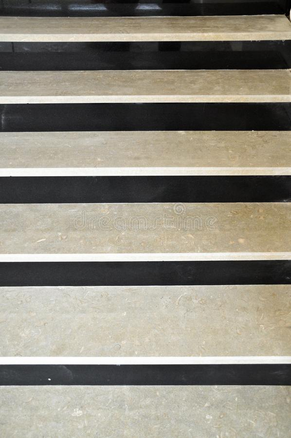 黑白大理石台阶 免版税库存图片