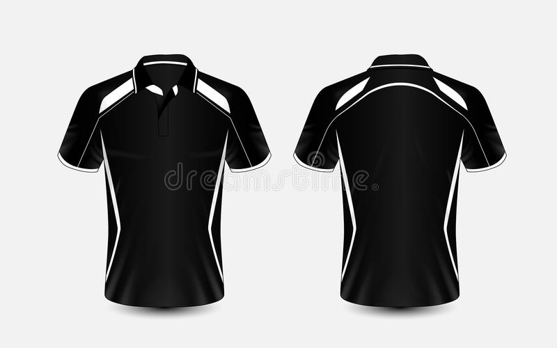 黑白布局e体育T恤杉设计模板 向量例证