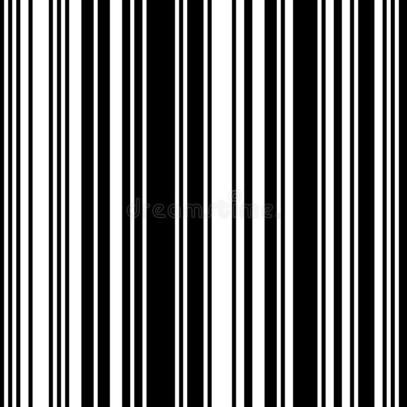 黑白平直的垂直的易变的宽度条纹 皇族释放例证