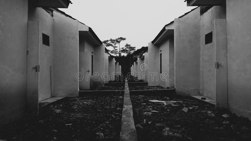 黑白建筑学 库存图片
